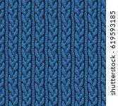 knitting hand made wool... | Shutterstock . vector #619593185
