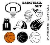 Vector Set Of Basketball...