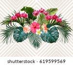 vector  vintage composition... | Shutterstock .eps vector #619599569