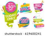 set of sale banners. discounts. ... | Shutterstock .eps vector #619600241