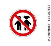 stop  not for children. vector. ... | Shutterstock .eps vector #619607699