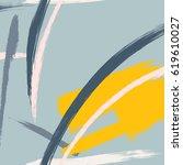 vector endless grunge brush... | Shutterstock .eps vector #619610027