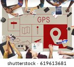 map direction pin tag location... | Shutterstock . vector #619613681