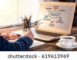 search engine optimization  seo ... | Shutterstock . vector #619613969