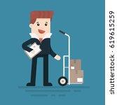 man in suit  businessman ... | Shutterstock .eps vector #619615259