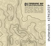 topographic map background with ... | Shutterstock .eps vector #619616519