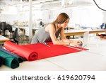 good looking young brunette... | Shutterstock . vector #619620794