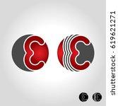 letter e logo | Shutterstock .eps vector #619621271