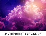 space of night sky with cloud... | Shutterstock . vector #619622777