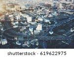 true tilt shift view from high...   Shutterstock . vector #619622975