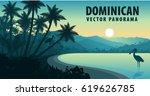 vector panorama of dominican... | Shutterstock .eps vector #619626785