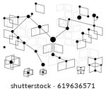 graphic web background with...   Shutterstock . vector #619636571