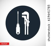 tools vector icon  flat design... | Shutterstock .eps vector #619641785