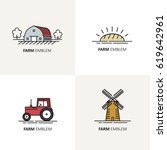 vector set of logo design... | Shutterstock .eps vector #619642961