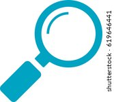vector magnifying glass search... | Shutterstock .eps vector #619646441