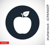 apple icon vector  flat design...   Shutterstock .eps vector #619646609