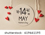 14 may mothers day message with ... | Shutterstock . vector #619661195