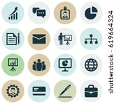 trade icons set. collection of... | Shutterstock .eps vector #619664324