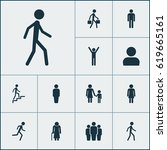 human icons set. collection of... | Shutterstock .eps vector #619665161