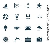 hot icons set. collection of... | Shutterstock .eps vector #619665395