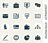 job icons set. collection of... | Shutterstock .eps vector #619665407