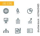 job outline icons set.... | Shutterstock .eps vector #619665485