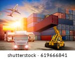 business logistics concept ... | Shutterstock . vector #619666841