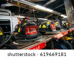 new york firefighters work tool ... | Shutterstock . vector #619669181