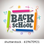 back to school vector... | Shutterstock .eps vector #619670921