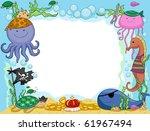 frame design featuring pirate... | Shutterstock .eps vector #61967494