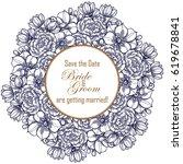 romantic invitation. wedding ... | Shutterstock . vector #619678841