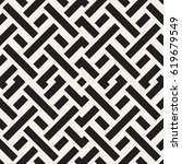 interlacing lines maze lattice. ... | Shutterstock .eps vector #619679549