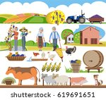 a set of agricultural elements  ... | Shutterstock .eps vector #619691651