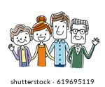 family  generation  | Shutterstock .eps vector #619695119