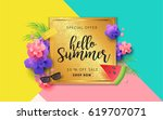 summer sale banner background... | Shutterstock .eps vector #619707071
