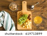 snacks plate  grapes  cheese ...   Shutterstock . vector #619713899