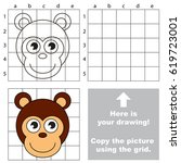 copy the picture using grid... | Shutterstock .eps vector #619723001