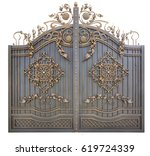 Fragment Of Baroque Metal Gate...