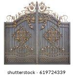 Fragment Of Baroque Metal Gate...