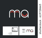 ma  m a  m   a letters joint... | Shutterstock .eps vector #619728665