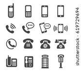 phone telephone icon | Shutterstock .eps vector #619729694