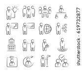 hand drawn business management... | Shutterstock .eps vector #619732877