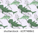 seamless pattern with hand... | Shutterstock .eps vector #619748861