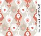 ethnic boho seamless pattern.... | Shutterstock .eps vector #619750481