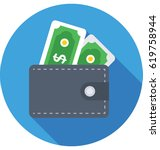 wallet vector icon | Shutterstock .eps vector #619758944