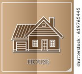 house exterior isolated icon... | Shutterstock .eps vector #619765445