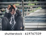 business man failed to feeling... | Shutterstock . vector #619767539