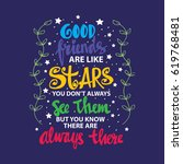 good friends are like stars... | Shutterstock .eps vector #619768481