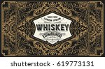 old  label design for whiskey... | Shutterstock .eps vector #619773131
