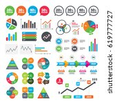 business charts. growth graph.... | Shutterstock .eps vector #619777727